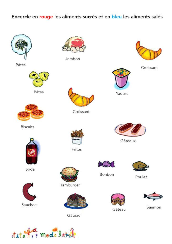 jeu, enfants, aliments sucrés, aliments salés