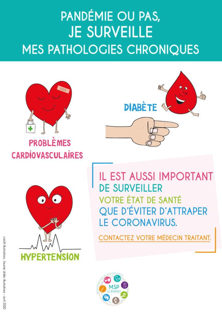 MSP Le Pontet 84, maladies chroniques, problèmes cardiovasculaires, diabète, hypertension, surveiller