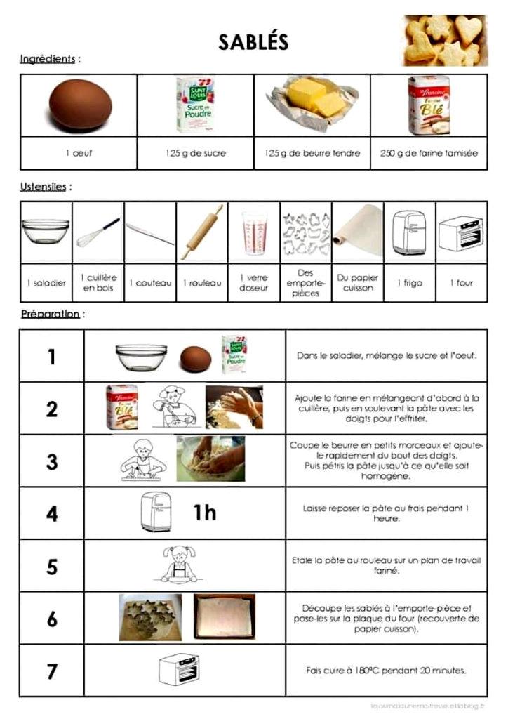 recette des sablés