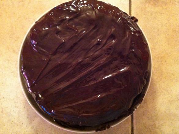 recette au yaourt nappage chocolat